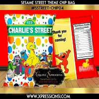 Sesame Street Colorful Dots Chip Bag