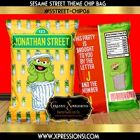 Oscar the Grouch Chip Bag