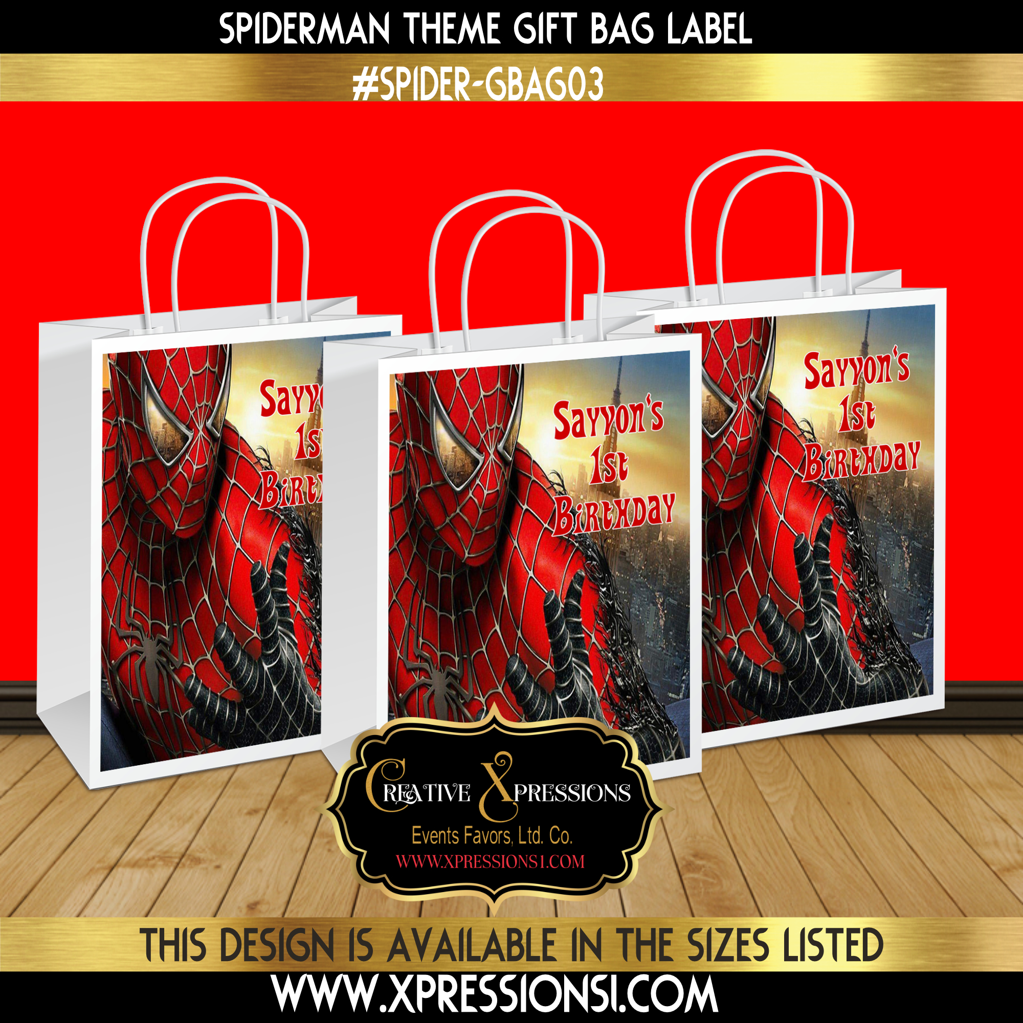 Spidey in the City Gift Bag