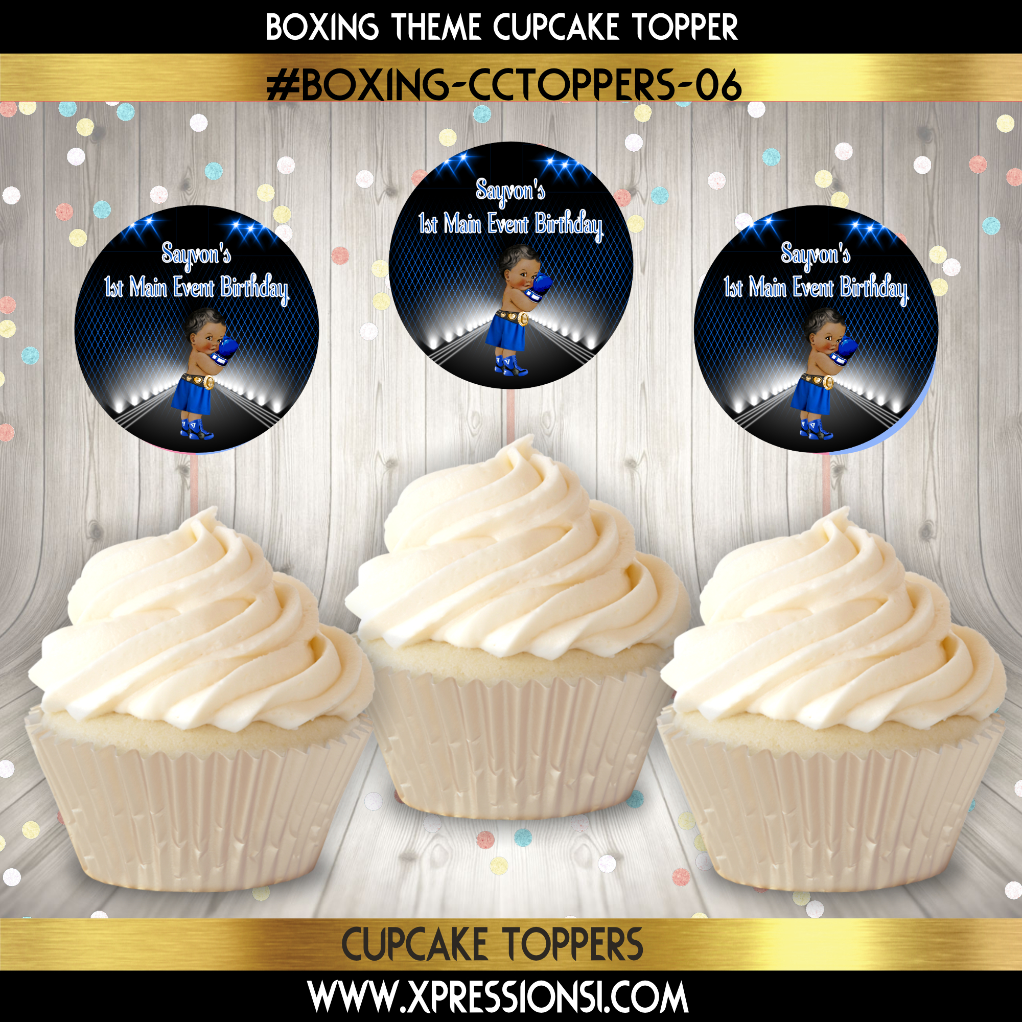 I'm a Fighter Boxing Cupcake Topper