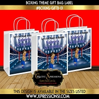 Birthday Boxing Ring Gift Bag