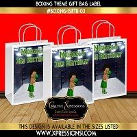 Boxer in Green Gift Bag