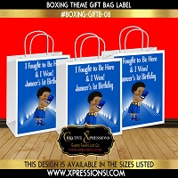 Boxing Theme Party Gift Bags