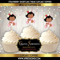 Strawberry Shortcake Cupcake Toppers  5