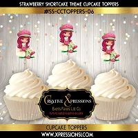 Strawberry Shortcake Cupcake Toppers  6