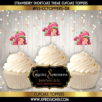 Strawberry Shortcake Cupcake Toppers  8