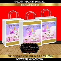 Unicorn Theme Gift Bag