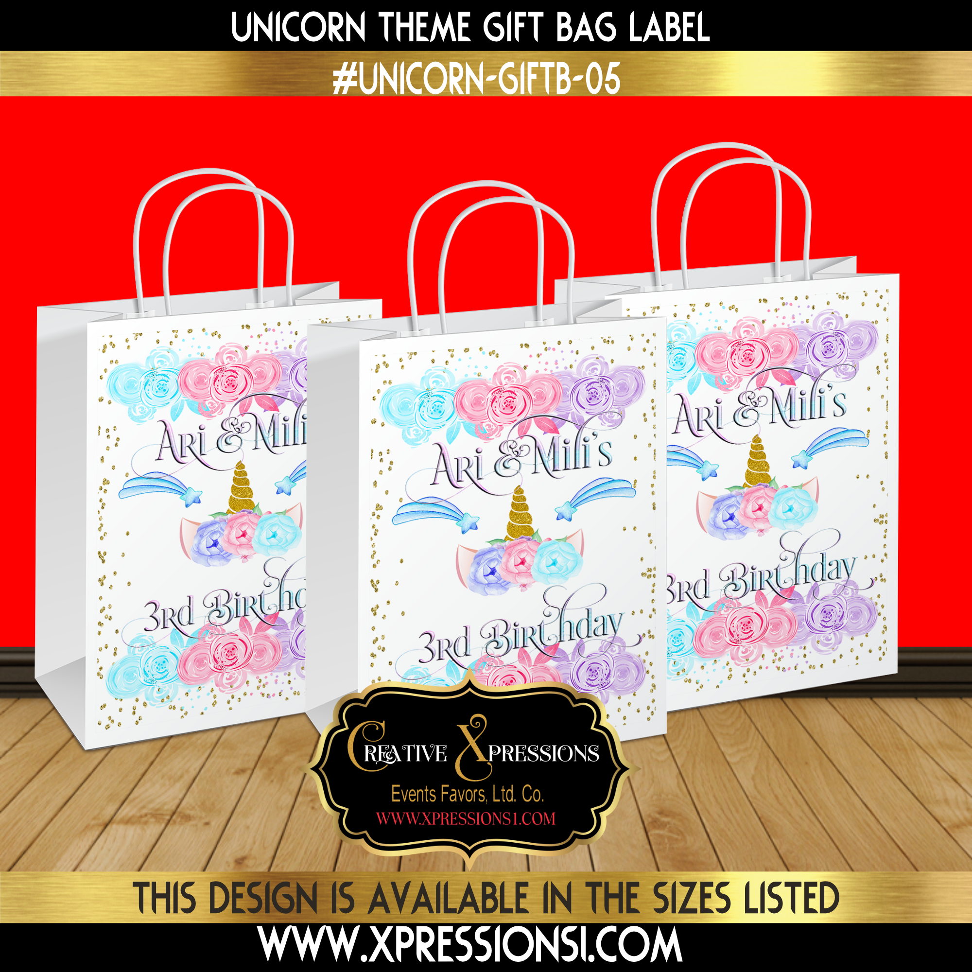My Pretty Little Unicorn Gift Bag