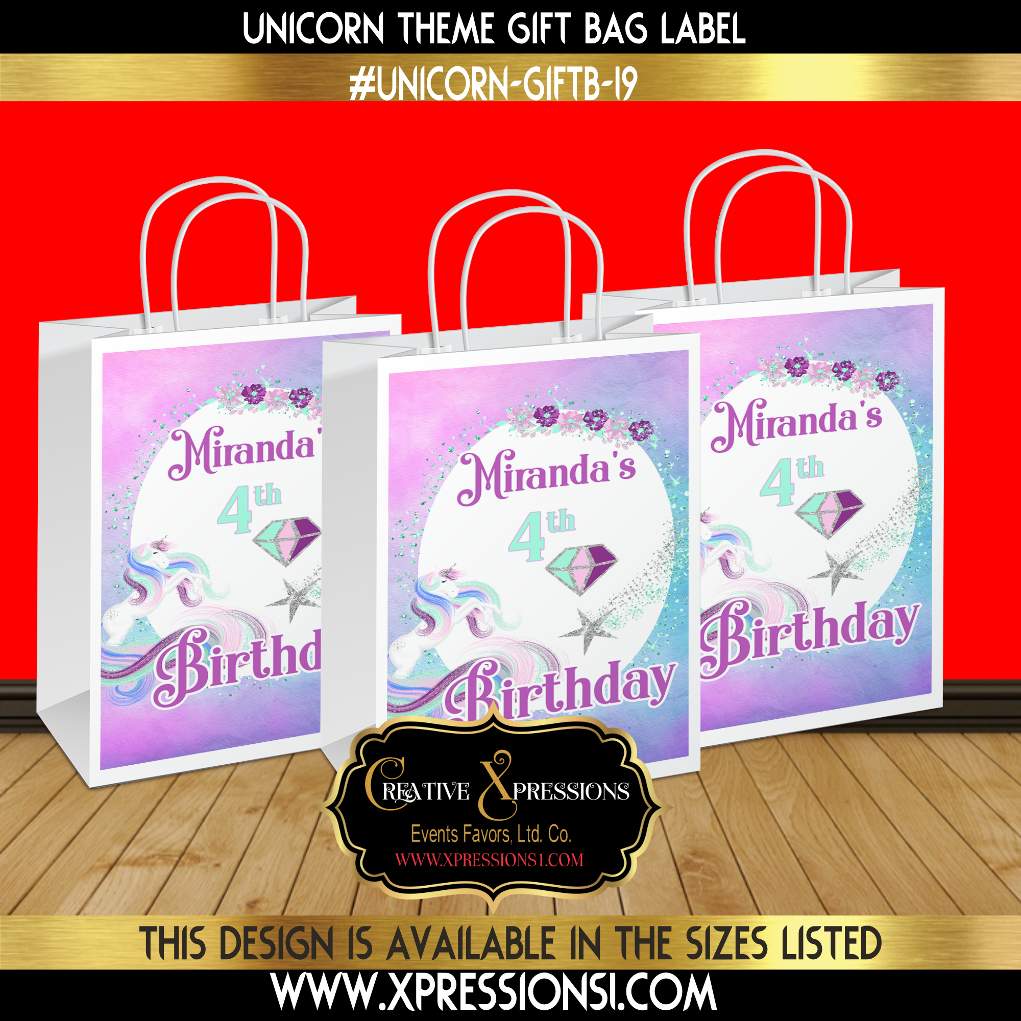 Unicorn Star Gift Bag