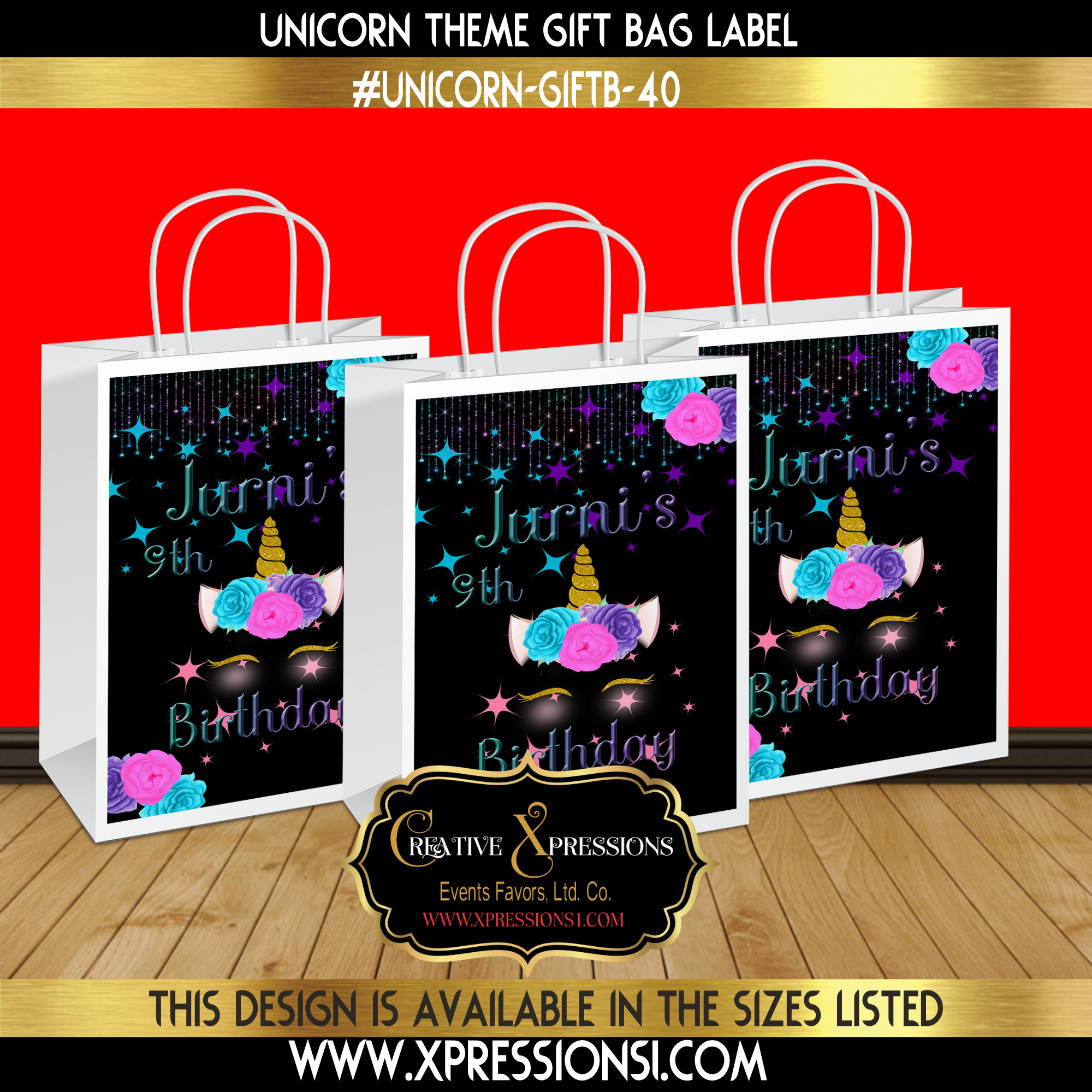 Unicorn Bright Gift Bag