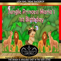 Safari Princess Birthday Backdrop