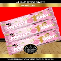 Minnie Pink and Gold Airhead Wrapper