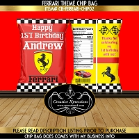 Ferrari Theme Chip Bag