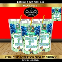 Paw Patrol Capri Sun Party Favor