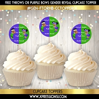 Free Throws or Purple Bows Cupcake Toppers