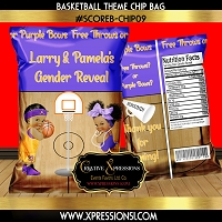 Purple and Gold Sports Chip Bag