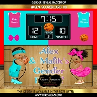 Turquoise and Hot Pink Gender Reveal