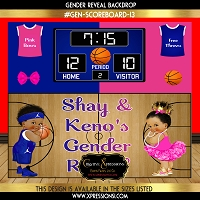 Blue and Hot Pink Sports Theme Gender Reveal
