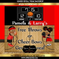 Free Throws or Cheer Bows Gender Reveal