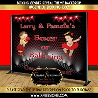 Boxer or Ballerina Gender Reveal (Red)