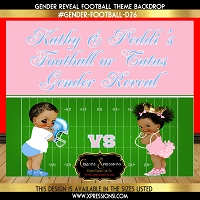 Touchdowns or Tutus Football Gender Reveal Backdrop