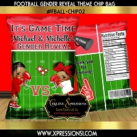 Football Gender Reveal Chip Bag