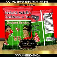 Touchdowns or Tutus Gender Reveal Chip Bag