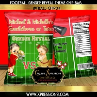 Red and Gold Gender Reveal Chip Bag
