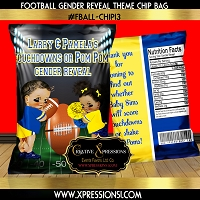 Touchdowns or Pom Poms Gender Reveal Chip Bag