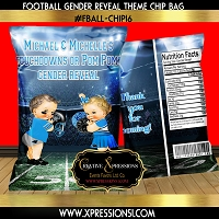 Carolina Football Gender Reveal Chip Bag