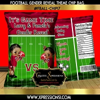 Football Theme Gender Reveal Chip Bag