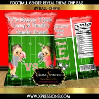 Coral Gender Reveal Chip Bag