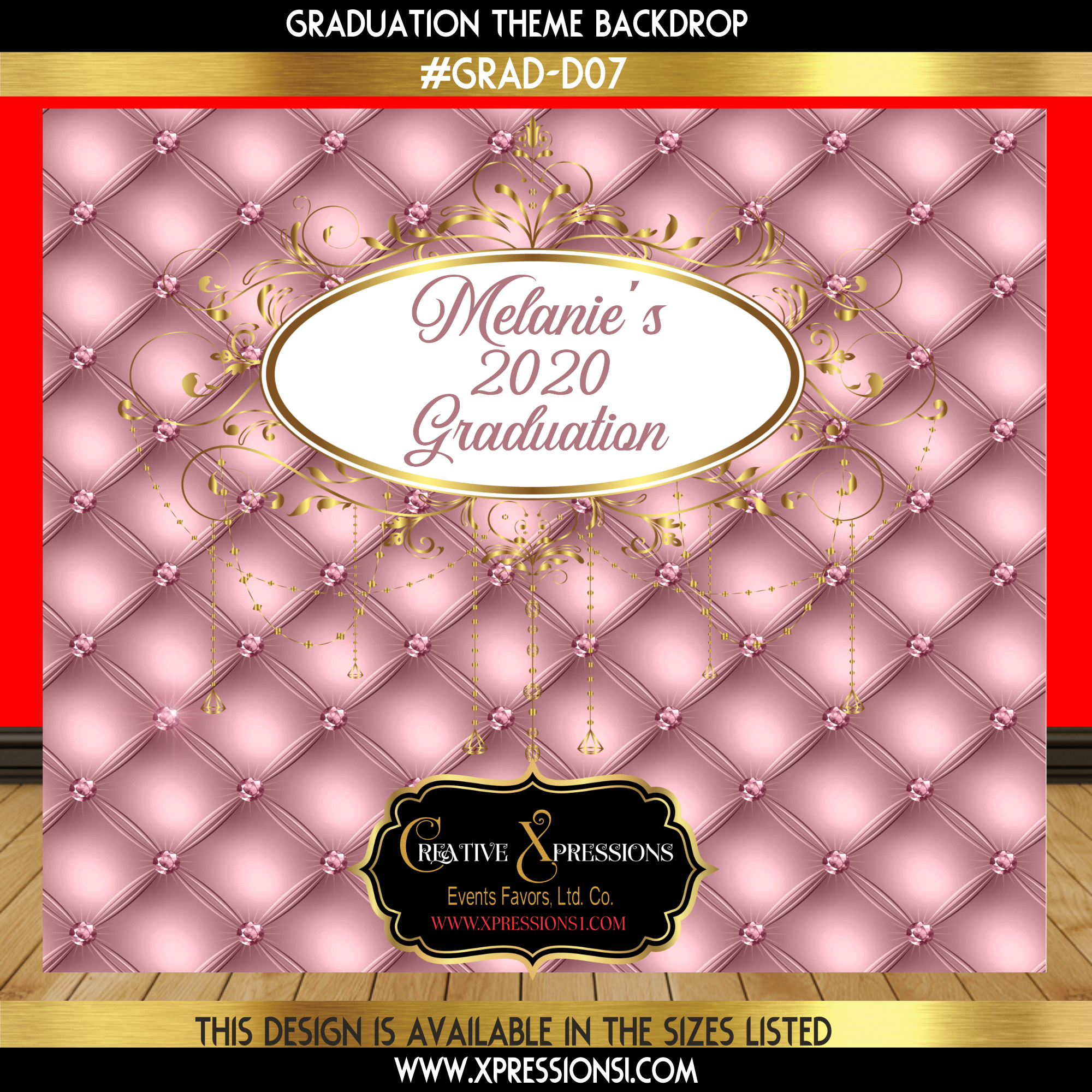Button Tuft Graduation Backdrop