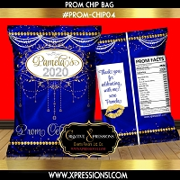 Blue Elegance Prom Chip Bag
