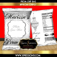 Silver Diamonds Prom Chip Bag