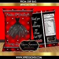 Prom Dress Chip Bag
