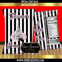 A Night in Paris Prom Chip Bag