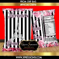 Diamond Eiffel Tower Prom Chip Bag