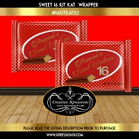 Red and Gold Polka Dots Kit Kat Wrapper