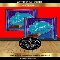 Masquerade Kit Kat Sweet 16 Wrapper