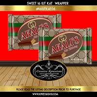Gucci Inspired Kit Kat Wrapper