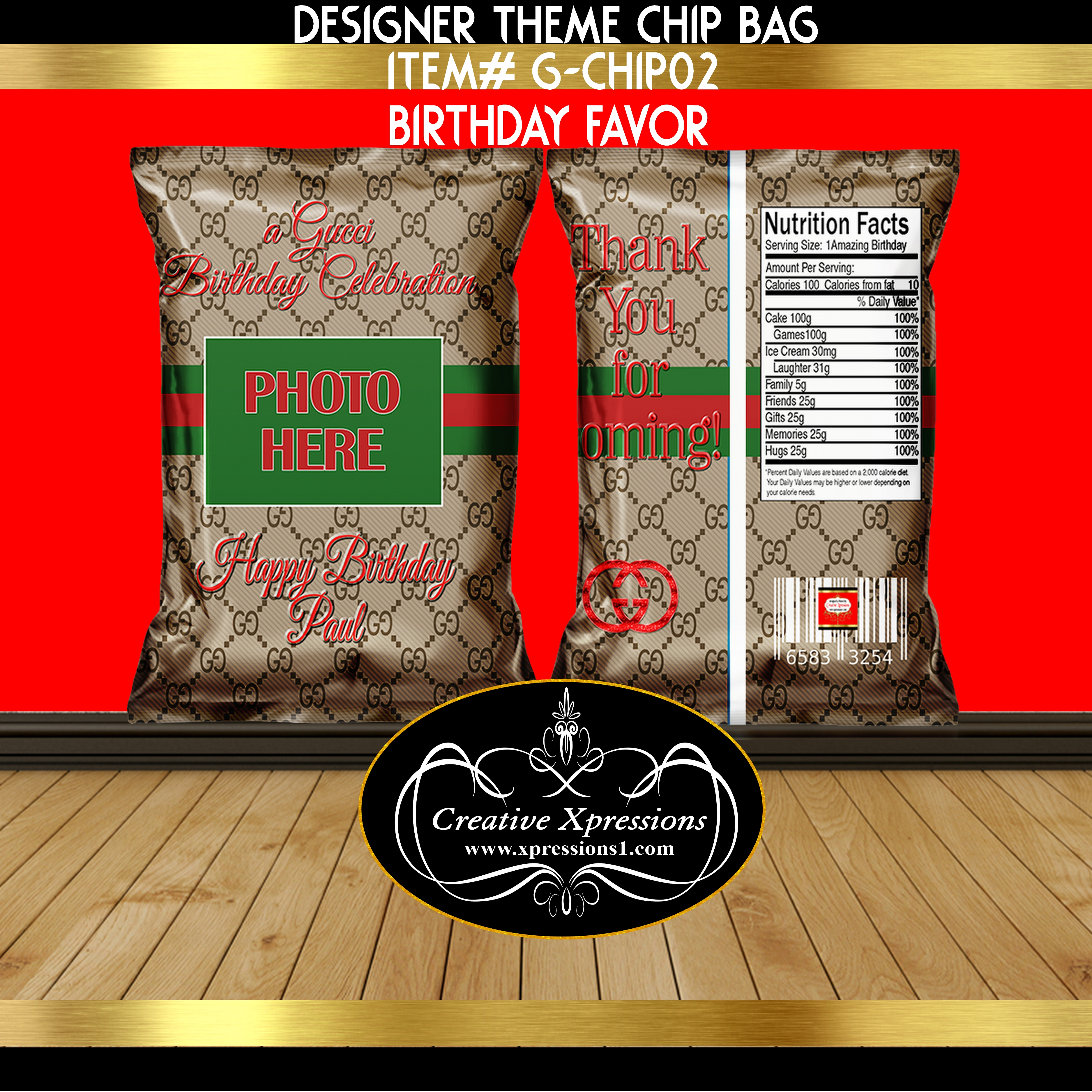 Gucci  Inspired Chip Bag
