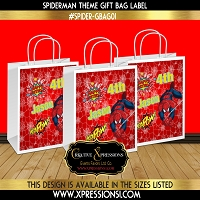 Spiderman Birthday Gift Bag