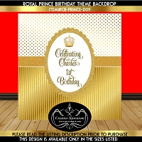 White and Gold Glam Birthday Backdrop