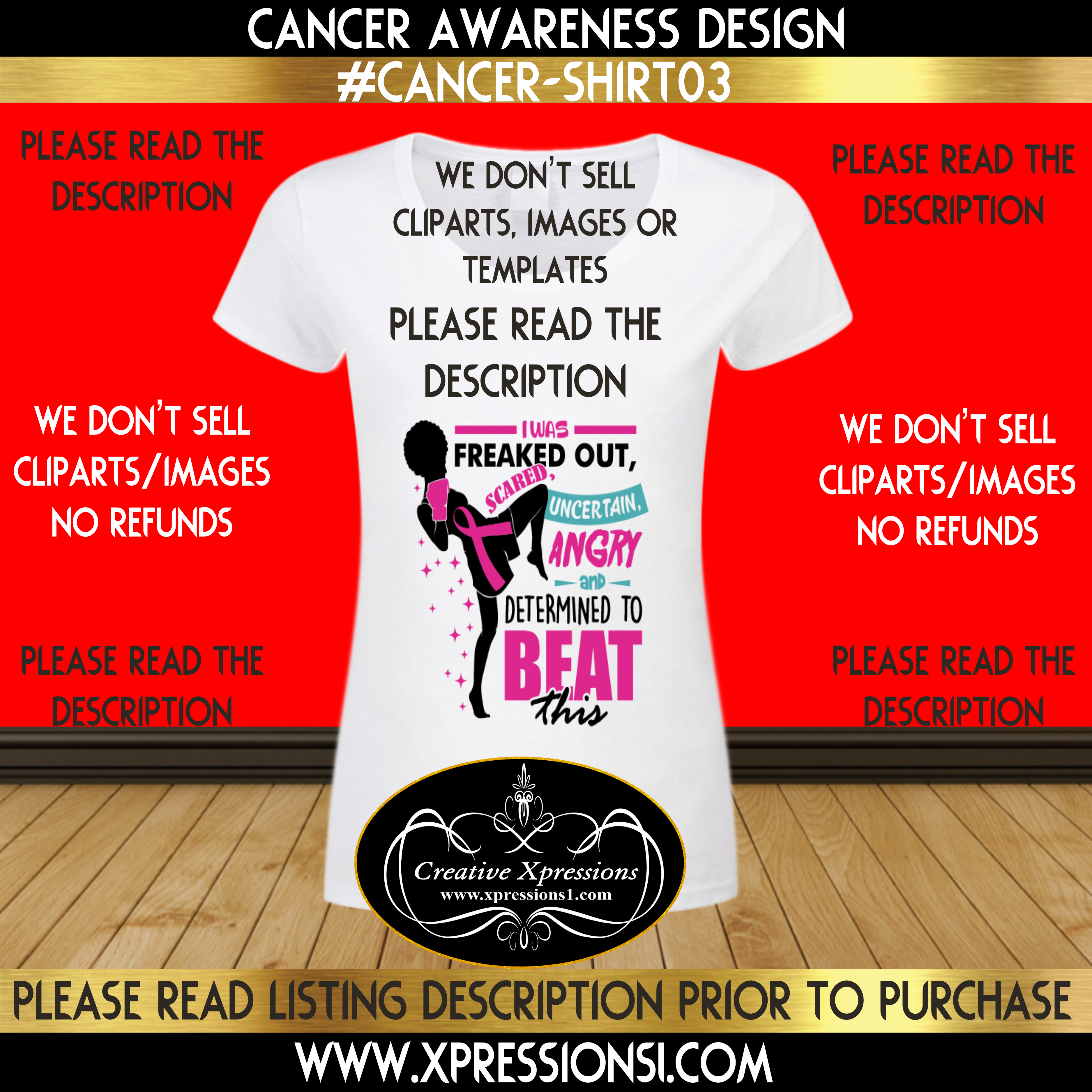 Freaked Out Cancer Awareness T-shirt