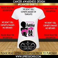 Fighting Back Cancer Awareness T-shirt