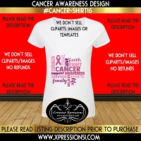 Survivor Words Cancer Awareness T-shirt