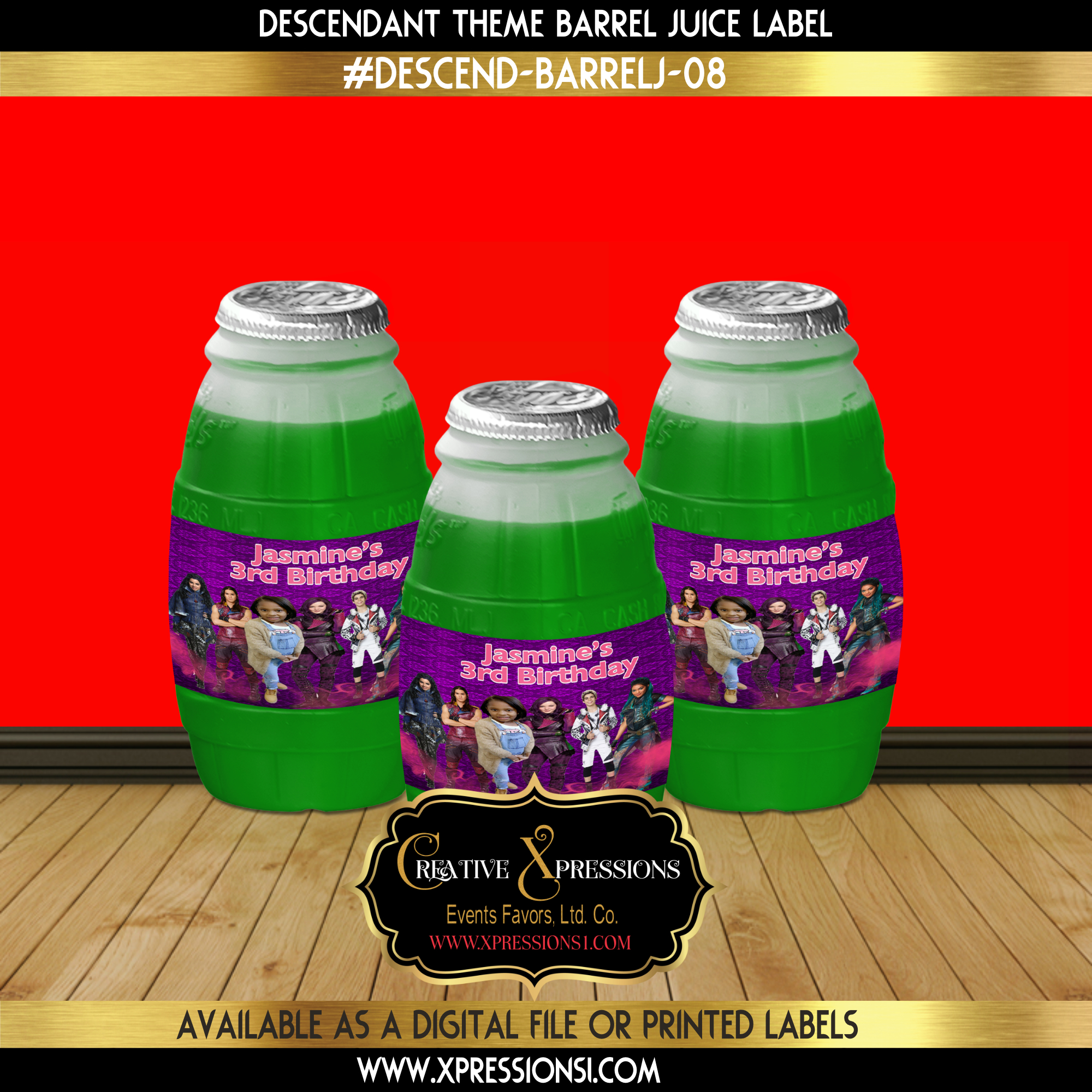 Descendant Barrel Juice Wrapper