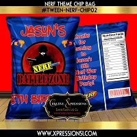 Blue Burst Battle Zone Chip Bag