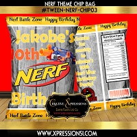 Nerf on Wood Chip Bag